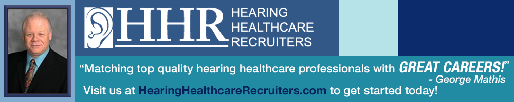 Hearing Healthcare Recruiters - Blue banner