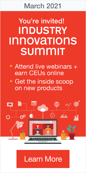 You're invited! Industry Innovations Summit | March 2021 | Attend live webinars + earn CEUs online | Get the inside scoop on new